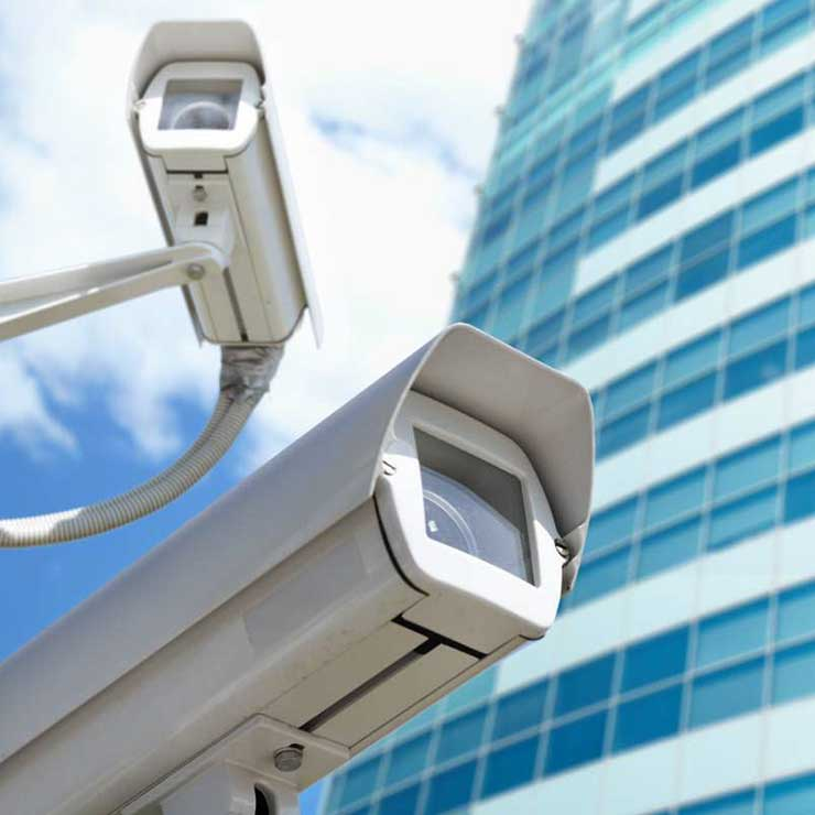 Monitoring services using CCTV camera